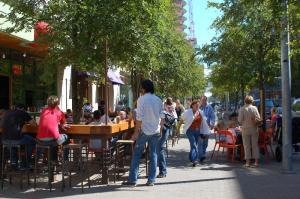 A pleasant urban street.