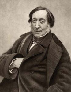 The most famous picture of Rossini, late in life.