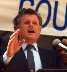 Teddy Kennedy, campaigning in 1980.