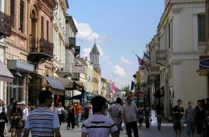 "Bitola, Macedonia, has a traditional neighborhood that never was changed.  It's all ""mixed use""."