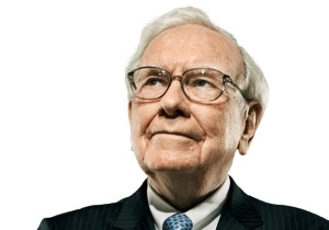 Buffett looks up.