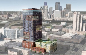 A proposed 28 story apartment building at 333 Hennepin, Northeast.  Seriously, WTF?