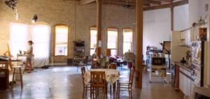 The interior of the Northern Artists' Coop in Lowertown.  Flexible space has many uses.