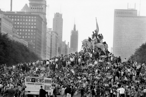 The 1968 Democratic Convention was just one very big sign that everything had fallen apart.