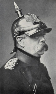 Otto von Bismark, not realizing that this picture would eventually look more like a cartoon than a human. Empire does that to people.
