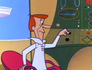 Meet George Jetson.  The Button is his master.