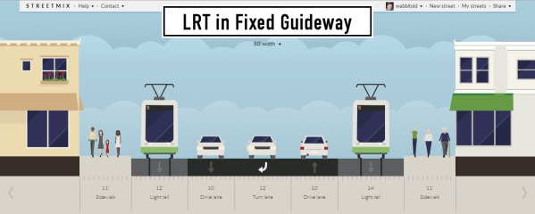 How a full-blown LRT implementation might look, as per the Riverview studies.