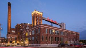 The Schmidt Brewery, now artists' lofts, is the symbol of the West End and sits at its heart.
