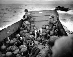US Soldiers heading towards Omaha Beach