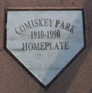 The Home Plate of Old Comiskey, now in the parking lot north of New Comiskey.