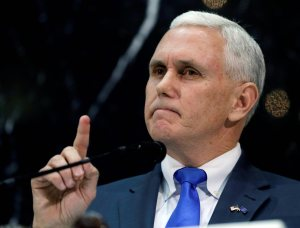 Gov. Mike Pence.  Does he get to define himself?