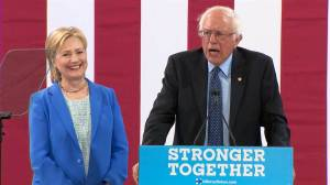 Bernie talks, Hillary beams. They're all getting what they want.