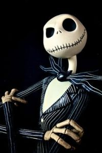 The ever stylish hero of Halloween Town, Jack Skellington