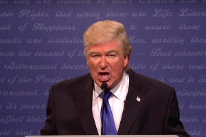 Alec Baldwin as Trump on SNL. It clearly hits a nerve.