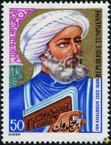 Ibn Khaldun, as honored on a Tunisian stamp.