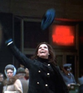 The iconic hat toss on Nicollet Mall. She made it, after all.