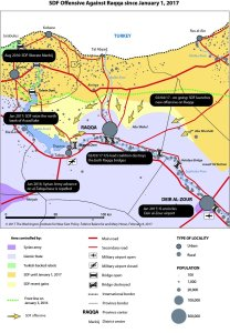 A map of the SDF Offensive on Raqqa this year.
